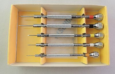 Bergeon 2868 Assortment of 5 screwdrivers With 1 spare blade watchmakers SWISS