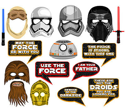 DIY DIGITAL Star Wars VII inspired photo booth props NO PHYSICAL ITEM