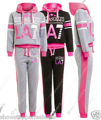 NEW GIRLS TRACKSUIT Girls Hoodie SUIT CLOTHING Joggers Age 7 8 9 10 11 12 13