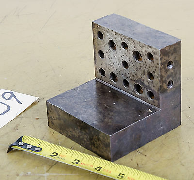 """Angle Block; 4""""x4"""" Drilled & Tapped (CTAM 9209)"""