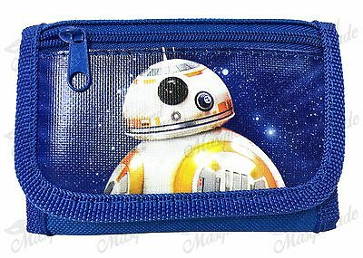 Star Wars BB-8 Kids Boys Blue Tri-Fold Wallet