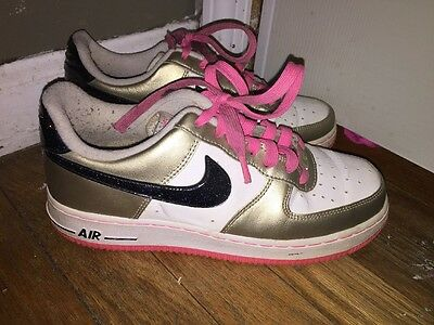 Chica Nike Air Force Blanco 1 Zapatos Hot Pink Blanco Force 314219 124 Tamaño 4a65e6
