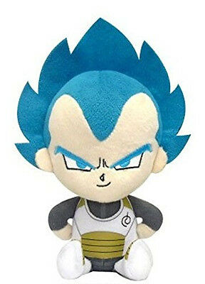 "Bandai Dragon Ball Super Mini Cushion Plush 9"" Super Saiyan Vegeta God Form"