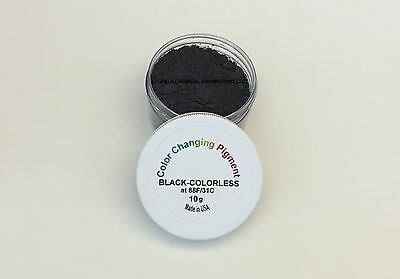 Black Thermo Thermochromic Pigment changing to Colorless (translucent white)