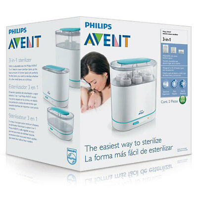 Philips Avent 3-In-1 Electric Steam Steriliser Kit Effective Kills 99.9% Germs