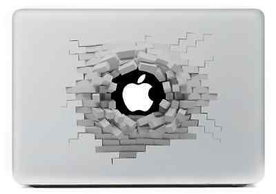 "Broken Wall - MacBook Air / Pro 13"" Removable Vinyl Sticker Skin Decal Cover"