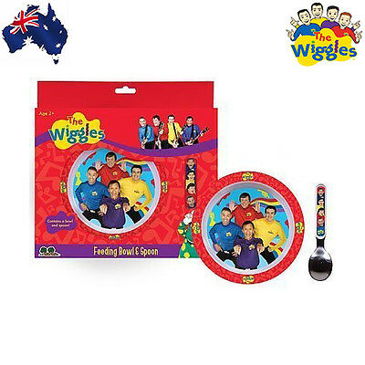 Aus Qlty The Wiggles Baby/Kids Feeding Bowl & Spoon Gift Set-Nursing-ABC Kids