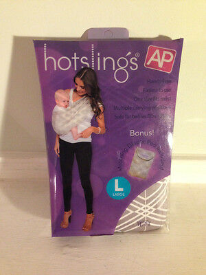 Hotslings AP Adjustable Pouch Baby Carrier Sling Large Jett Grey/White