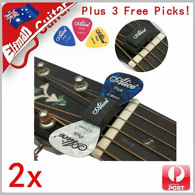 Guitar Bass Pick Holder Rubber Head Clip Alice Free Picks FAST AU POST