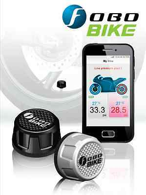 FOBO BIKE BLACK BLUETOOTH 4.0 DIY TYRE PRESSURE MONITOR SYSTEM TPMS iOS ANDROID