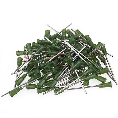 "100pc 14Ga 1.5"" Dispensing Needle Tip For Liquid Dispenser Adhesive Glue Syringe"