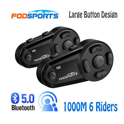 100m BT Bluetooth Motorcycle Helmet Interphone Handsfree Intercom Headsets + FM