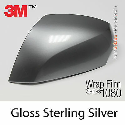 20x30cm FILM Gloss Sterling Silver 3M 1080 G251 Vinyle COVERING Car Wrapping
