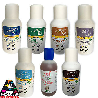 SHAMPOO NATURALE PER CANE NATURAL DERMA PET 200ml DERBE