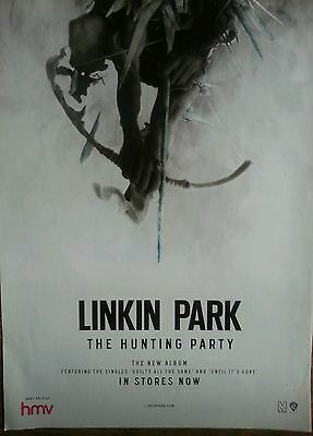 """Linkin Park The Hunting Party Original Poster Advert 11 X  8"""" Approx"""