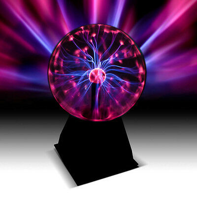 """Large 6"""" Plasma Ball Globe Light Responses To Touch And Sound"""