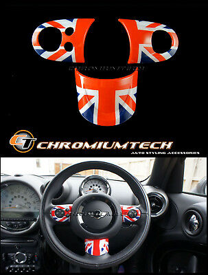 MINI R55 R56 R57 R58 R59 R60 R61 Union Jack Multi Function Steering Wheel Cover