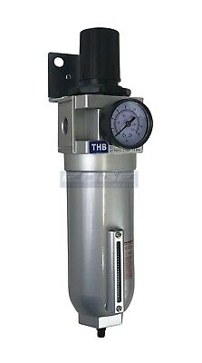 "3/4"" HIGH FLOW Air Pressure Regulator & Filter Water Trap & AUTO DRAIN"