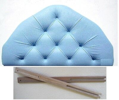 2ft6 small single size upholstered light sky blue headboard bed head board