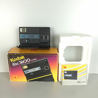 Kodak Disc 3600 Camera /  Ancien Appareil Photo + Boite + Notice