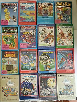16 New Sealed Rare Intellivision Game Collection Donkey Kong Mouse Trap Lady Bug