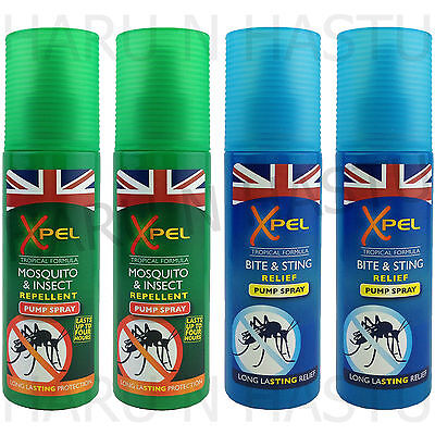 Xpel Mosquito & Insect Bite & Sting Pump Spray 70Ml Repellent Relief Travel