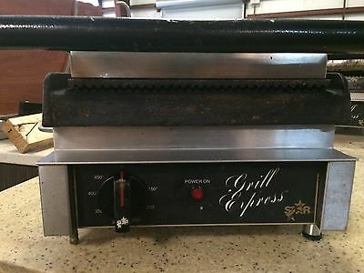 """Star Ribbed Sandwich Grill Express Panini Gx10Ig 10"""" Grooved Iron Plates"""