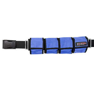 4/6 & 8 Pocket Weight Belts - BLUE