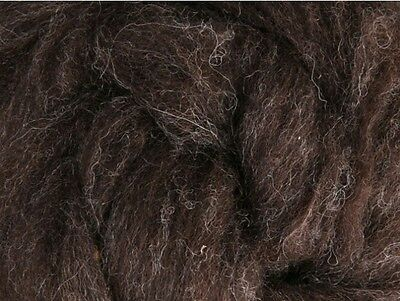 CORRIEDALE WOOL SLIVER Ashford NZ Natural Dark Brown for spinning felting 1Kg