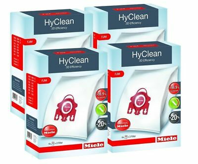 Miele FJM Vacuum Bags 4 x Boxes, Hyclean 3D Type,Genuine Miele Fits Young Style