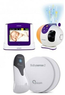 Oricom Secure 870 Baby Monitor+Babysense 2 Infant Respiratory Pack