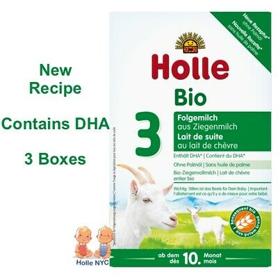 Holle Goat Milk Stage 3 Organic Formula with DHA 3 Boxes 400g Free Shipping