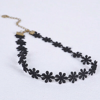 Tattoo CHOKER Flower Stretch Necklace Retro Henna Hippy Vintage Boho 80 90s