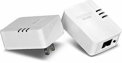 TRENDnet Powerline 500 AV Nano Adapter Kit TPL-406E2K Non-Pass Through