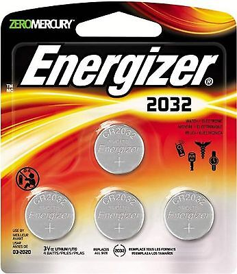 Energizer Cr2032 3 Volt Lithium Coin Battery 4 Count Energizer