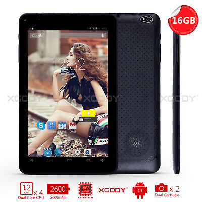 9 Inch 16GB Quad Core Android 4.4 Tablet PC Bluetooth WIFI Dual Camera Brand New