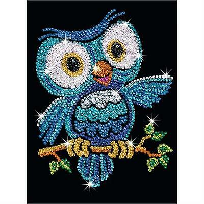 Sequin Art Junior Ozzy The Owl Sparkling Craft Picture Kit 1403