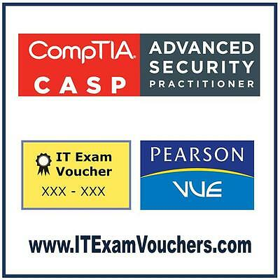 CompTIA CASP Certification Exam Pearson VUE Test Voucher US/Canada Register FREE