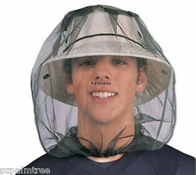 Mosquito Mosi Midge Insect Head Net Mesh Face Protector Travel Camping Zika Bug