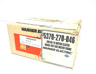 New Warner Electric 5370-270-046 Motor Clutch 5370270046