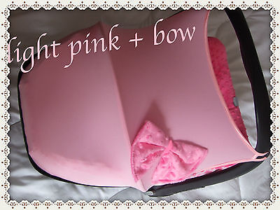 car seat hood/sun canopy light pink + bow maxi cost pebble/cabriofix /universal