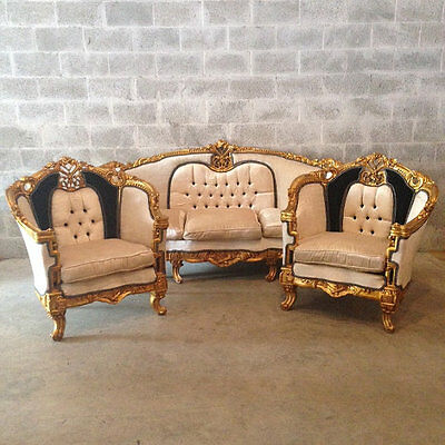 Complete French Living Room Set Louis Xvi Sofa And 2 Chairs