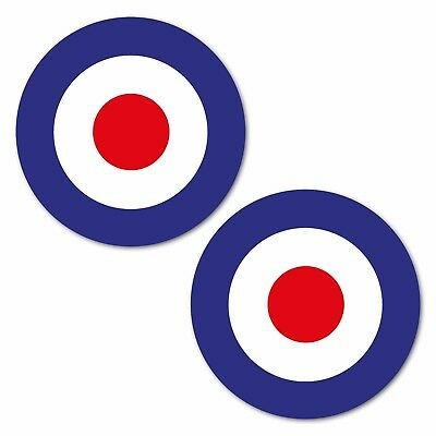RAF MOD ROUNDEL Laminated Stickers 62mm scooter vespa who helmet decals