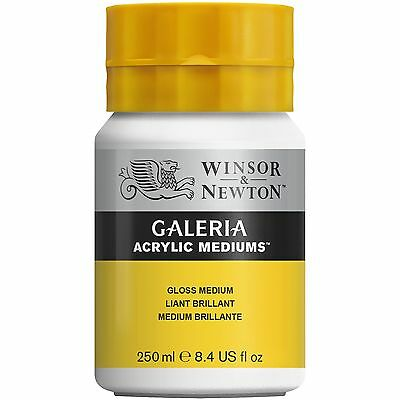 Winsor & Newton Galeria MATT or GLOSS Medium 250ml for Artists Acrylic Painting
