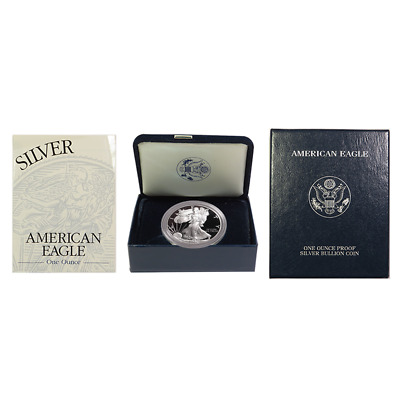 2001-W Proof $1 American Silver Eagle Box OGP & COA