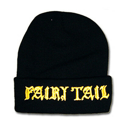 NEW Official Great Eastern GE-32373 Fairy Tail Guild Gold Logo Black Beanie
