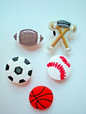 Sport Ball Jibbitz Shoe Charm Plug Button Fit Accessorie Croc WristBand Bracelet
