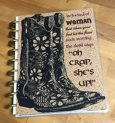 cowboy boots quote cover set for use with the happy planner