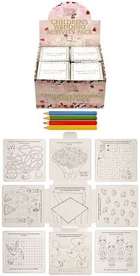 Wedding Childrens Activity Packs Games Puzzles Colouring Book Kids Party Bags
