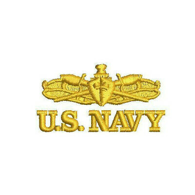 US NAVY SURFACE Warfare Specialist emblem EMBROIDERED POLO